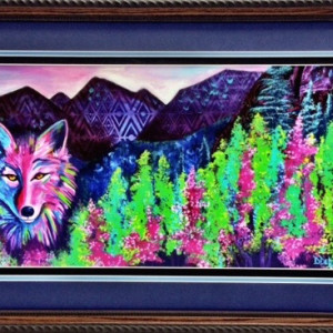 Wolf print by Diana Dellos