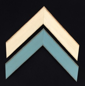 Samples Cream & Turquoise antiqued frames