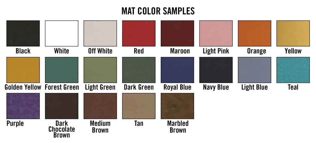 mat color choices