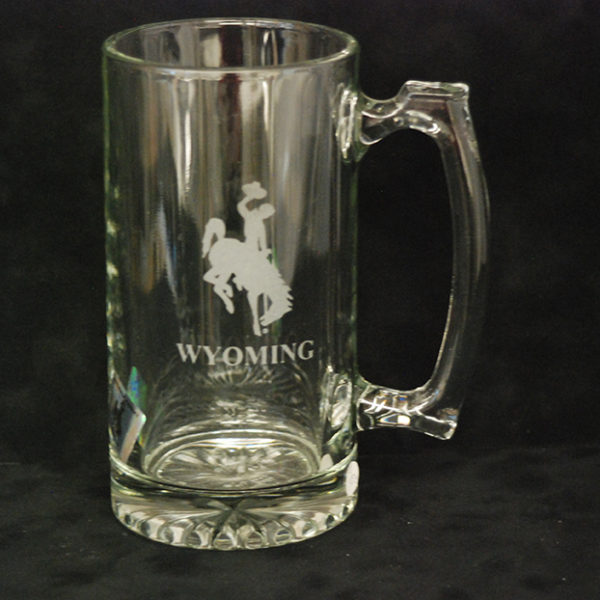 wyo etched mug(etched glassware, Wyo made, gifts)