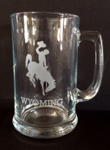Small wy etched mug
