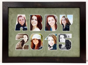 Abby 2015 photo name mat (photo name mats, gifts, special occasions,custom framing)