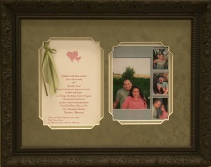 Lucia Luna framed wedding invite (custom framing,gallery,gifts,special occasions)