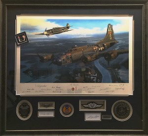 WW2 collage Bill Smith(gallery, custom framing)