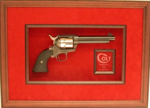 pistol(custom framing, gallery)